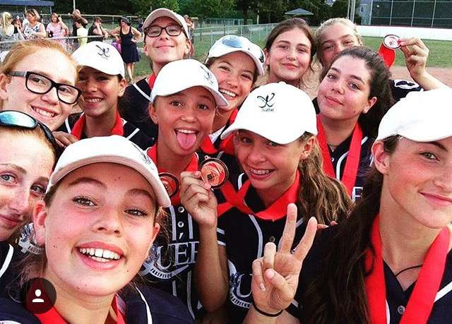 Three of Kahnawake's top softball talents played for Quebec Rebelles squads at the national championships last week. (Courtesy Sarah Jacobs)