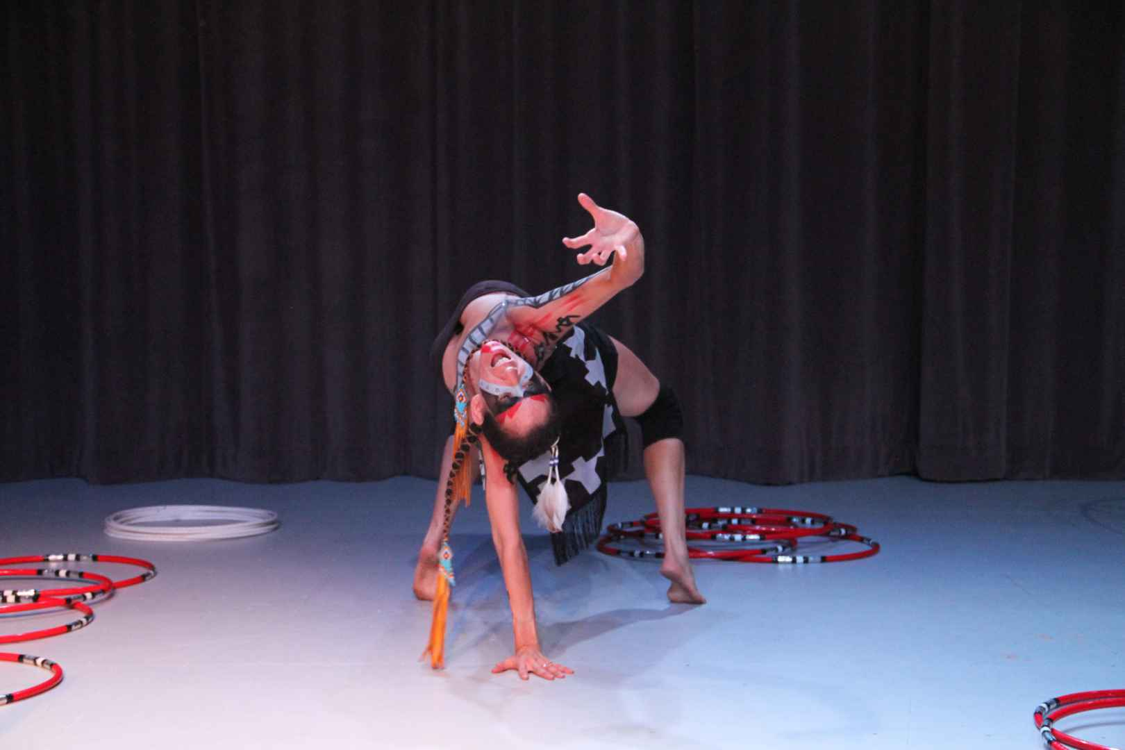 Courtesy Raeesa Lalani Caption: Barbara Diabo performed an excerpt from her latest dance piece on Wednesday night to open Halifax's annual Prismatic Arts Festival
