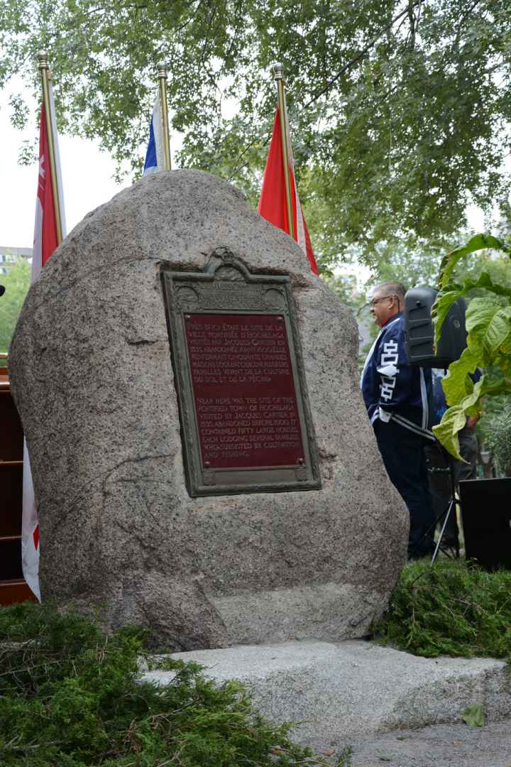 Those visiting or studying at McGill will no longer be ignorant of the presence of one of the most important symbols of the First People's presence on the island of Montreal, after the Hochelaga Rock was moved to a prominent spot at the university along its main driveway.