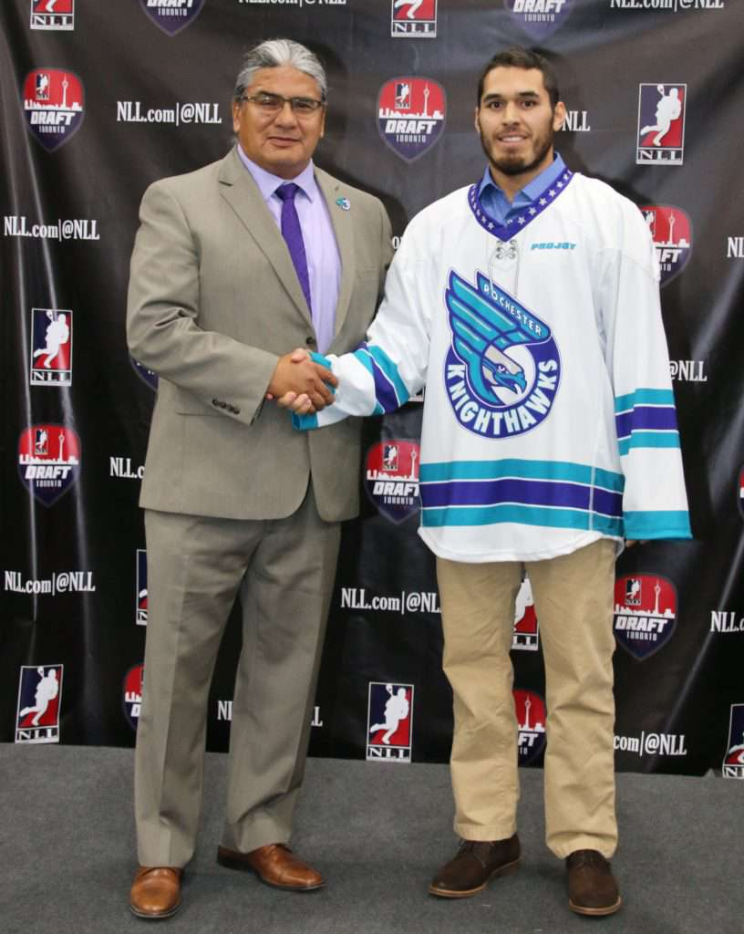 Knighthawks owner Curt Styres nabbed another in a long list of superstar Haudenosaunee talent when he snagged Brine Rice with the team's final pick.