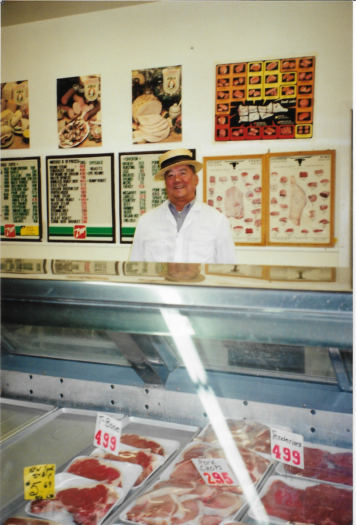 David Lafleur was the second of the Lafleur butcher dynasty that now includes his granddaughter Kiersten, who just opened a meat deli on Route 207 with husband Jay Diabo (Courtesy Kiersten Lafleur-Diabo)
