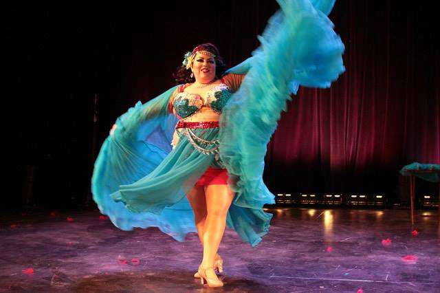 Talia Shenandoah brought her glamour and feminine ferocity to the Empire Burlesque Festival in Ithaca, New York last March. (Courtesy Peter Korolov Photography)