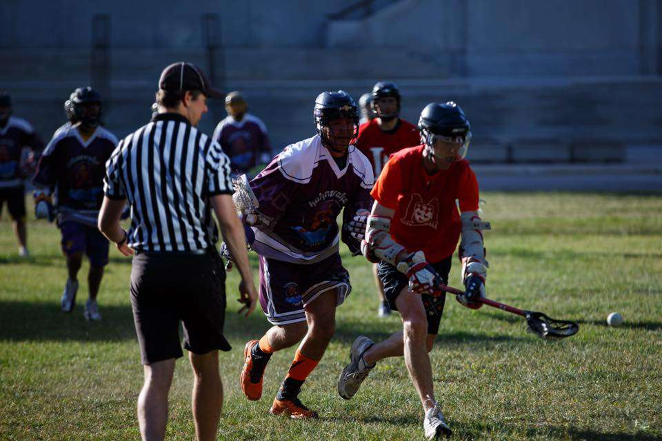 It ended as expected with Kahnawake's purple-clad team beating Canada, but more important than the result was the gesture of both sides to build friendships and learn about lacrosse's importance for both nations. (Courtesy Marc Miller)