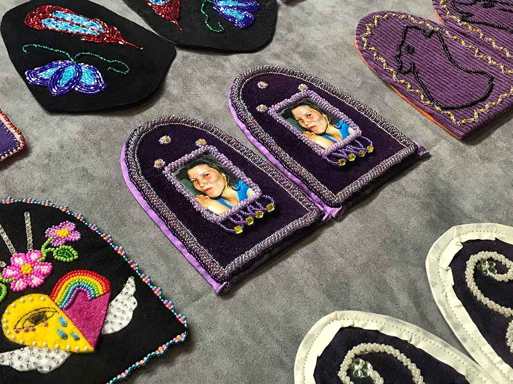 At least two pairs of vamps were made for Kahnawa'kehró:non Tiffany Morrison, who went missing on June 18, 2006.