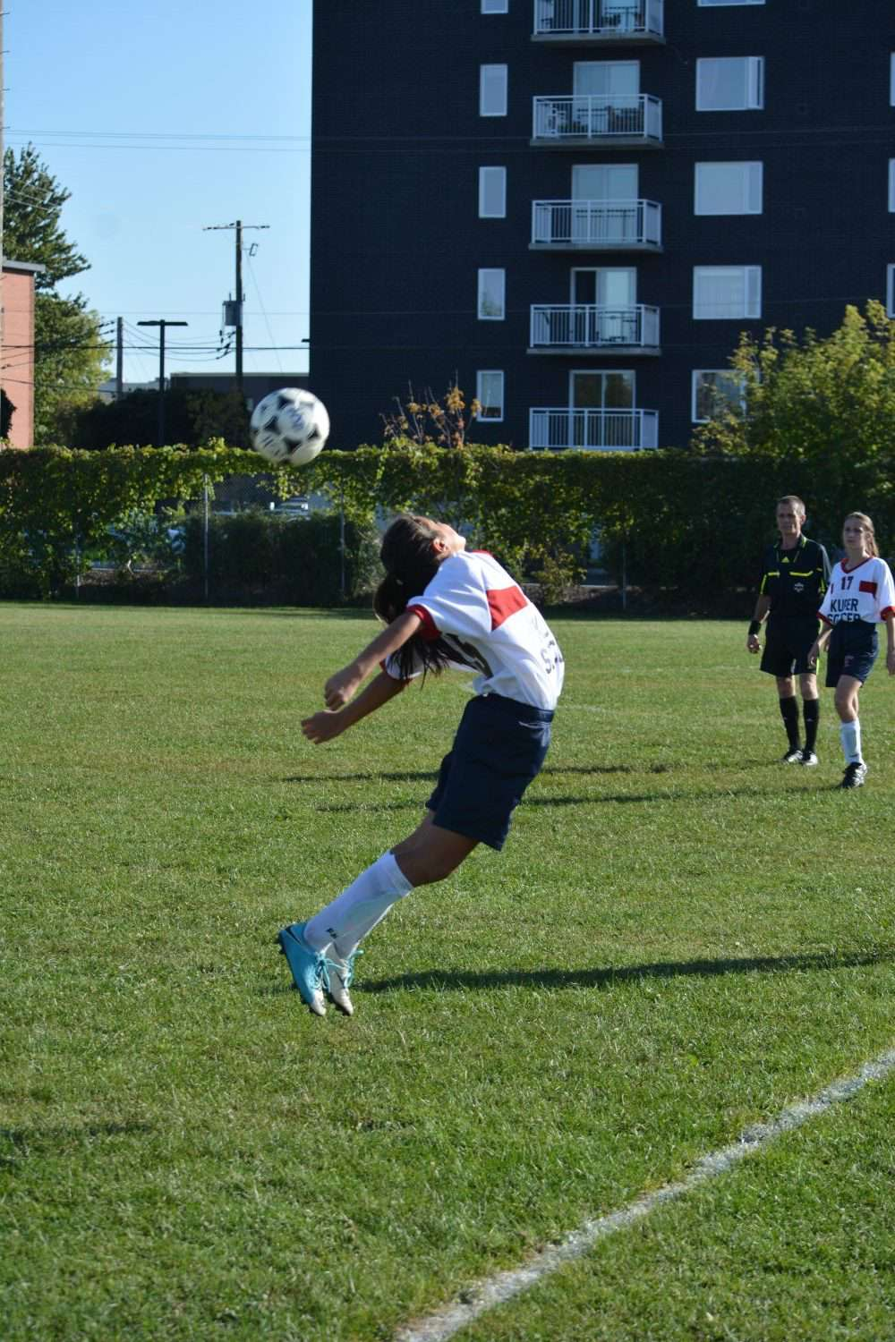 Jillian Diabo brought her double-letter soccer skills to Kuper Academy this year, and the team looks very hard to beat thus far. (Daniel J. Rowe, The Eastern Door)