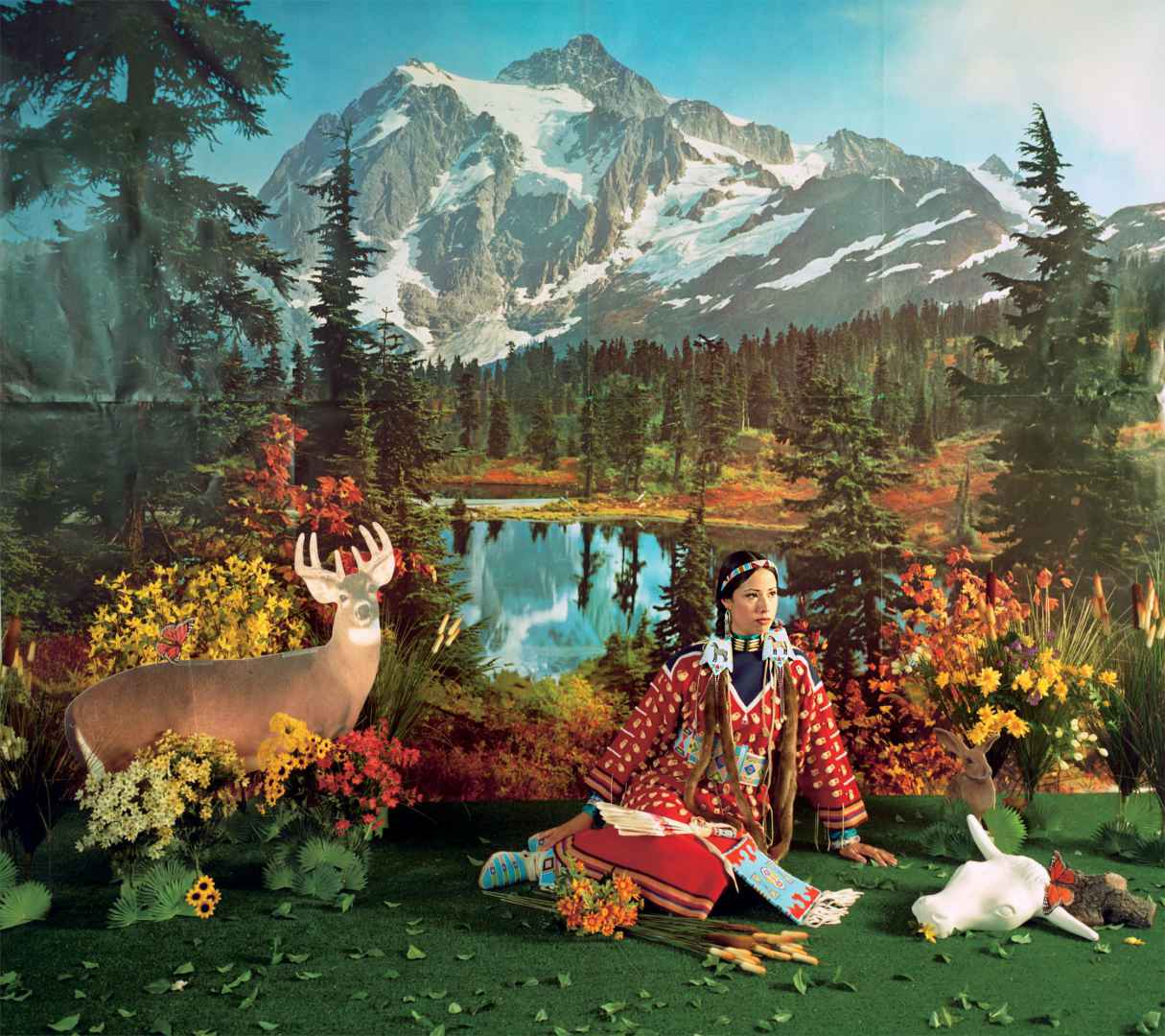 "Wendy Red Star (born in 1981), Indian Summer, from the series ""Four Seasons,"" 2006, chronomogenic print. Collection of Brian Tschumper. (Courtesy MMFA)"