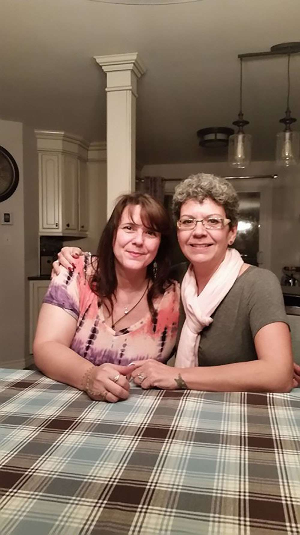 Tealey Normandin and her biological sister Denise Chenel were adopted outside of Kahnawake during the Sixties Scoop. (Courtesy Tealey Normandin)
