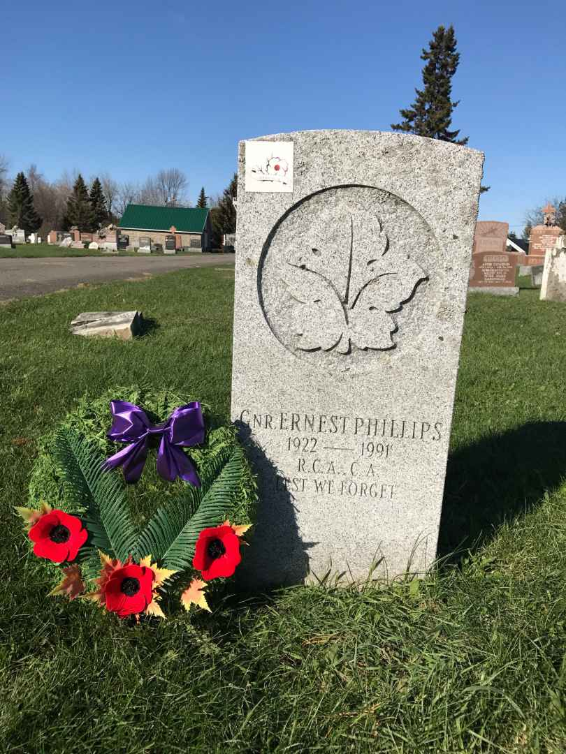 """General Ernest """"Sam"""" Phillips' contribution to the Canadian army never goes unrecognized as a wreath is placed on his grave every year. (courtesy Brandi Meloche)"""