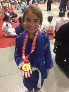 Karonhiaroroke Phliips is among the crew of local judokas training out of Tritton Performance continue to snag medals and look like young athletes to watch in 2018. (Courtesy Nick Tritton)